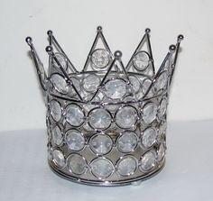 Rhinestone Crown Candle Holder.