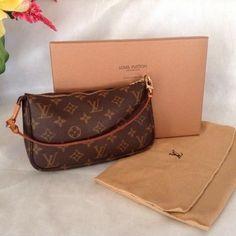 Louis Vuitton Accessories Pochette Brown Wristlet $322