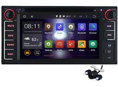 Carfond 6.2 inch Android 4.4.4 Kitkat In Dash Double Din 800*480 HD Touch Screen Car DVD Player AM/FM Radio GPS Navigation Navi Stereo Support 3G/Built-in Wifi Bluetooth AUX 1080P USB/SD DVR OBD2 Airplay External Microphone as Gift For Toyota RAV4/Camry/Highlander/Corolla/Vios/Yaris/Tundra/Land Cruiser/4 Runner/FJ Cruiser/Alphard/Previa GL/Hiace/Fortuner/Innova/Hilux/ Celica/MR2/Kluger/Terios 2006-2012/Rush 2006-2012/Echo 1998-2005/ Vizi 1998-2005/Vitz 1998-2005/Soluna Vios…