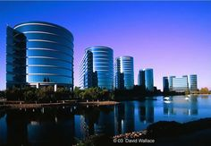 Oracle world headquarters exterior architectural photography SF Bay area.