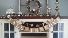 Fall In Love Banner, Fall Wedding Decorations, Fall In Love Garland, Fall In Love Sign, , Fall Decor, Fall Banners, Fall Bridal Shower Decor by RusticBurlapBanners on Etsy https://www.etsy.com/listing/244849658/fall-in-love-banner-fall-wedding
