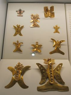 Butterflies and Hummingbirds. Ancient gold artifacts , Columbia.
