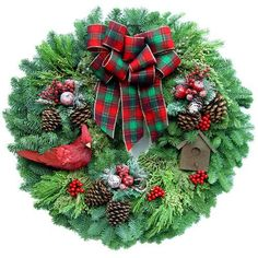 Beautiful fresh Wreath... delivered FREE to your door...