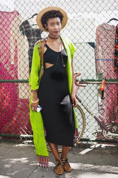 This black cutout dress is everything. Anyone know where to find it? #refinery29 #style #brooklyn