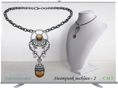 Steampunk necklace - 2 Full Permission impact 6 AO UV included You can not sell or transfer the right to resell or transfer. Steampunk Necklace, Beaded Necklace, Second Life, Jewelry, Beaded Collar, Pearl Necklace, Jewels, Schmuck, Beaded Necklaces