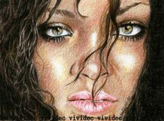 Rihanna by vividec {from Italy} ~ colored pencils High School Art Projects, Etch A Sketch, Illustration Art, Illustrations, Celebrity Portraits, Online Gallery, Caricatures, Pencil Art, Medium Art