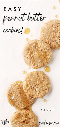 High protein, healthy peanut butter protein cookies that are quick & easy, vegan/plantbased, gluten free, oil free and refined sugar free!! #peanutbuttercookies #vegancookies #healthyvegancookies #healthycookies #healthyvegansnacks #vegansnacks #sugarfreecookies #peanutbutter #vegancookie #vegandesserts #easyvegan #healthyvegan #highproteincookies #veganprotein #proteincookies Vegan Protein Cookies, Gluten Free Peanut Butter Cookies, Sugar Free Cookies, Peanut Butter Protein, Healthy Cookies, Healthy Vegan Desserts, Savory Snacks, Vegan Recipes Easy, High Protein