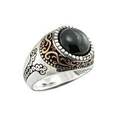 Silver Man Ring With Onyx Stone #manring #jewellery #silver #oriental #fashion #jewelry #manring #manjewelry #ring #man #ottoman #hurrem #authentic #vintage #luxury #handmade
