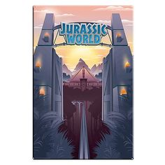 Jurassic World Park Gates Large Metal Sign - Factory Entertainment - Jurassic Park - Signs at Entertainment Earth