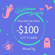 My darlings I have a special giveaway for you today because Halloween is right around the corner! You can win a gift card of 100$  from...
