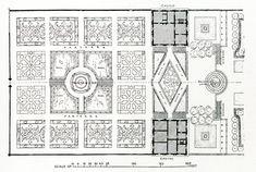 Triggs Garden craft 1913 page 47 b Plan of Villa Lante-modified - Villa Lante – Wikipedia