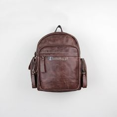 Brown Leather Backpack Purse Small Rucksack Material: Leather Color: Brown, Carmine Size: cm Gender: Unisex Related leather backpacks:Vintage Leather Backpack for Men Large Leather Backpack For Men Small Black Leather Backpack Small Black Leather Backpack, Vintage Leather Backpack, Leather Backpack For Men, Leather Art, Backpacks, Unisex, Purses, Fashion, Bag