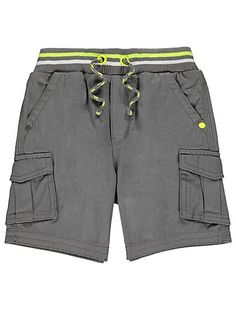 Cargo Shorts with Neon Trim | Kids | George