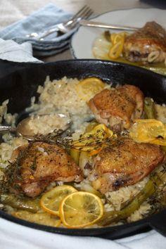 Chicken, Lemon & Scallion Baked Risotto