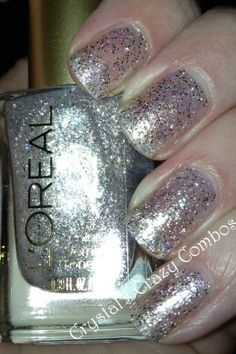 Glitter Nail Polish By LOREAL | See more nail designs at http://www.nailsss.com/...