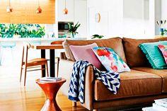   Los sofás de cuero en la decoración del hogar