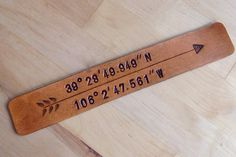Longitude Latitude Gift Leather Bookmark GPS Coordinates Love Bookmark Arrow Bookmark Personalized Gift Book Lover 3rd Anniversary Gift
