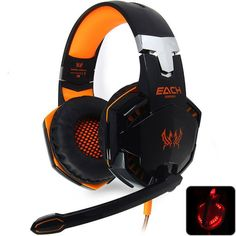 New EACH G2000 Deep Bass Headphone Stereo Surrounded Over-Ear Gaming Headset Headband Earphone with Light for PC LOL Game