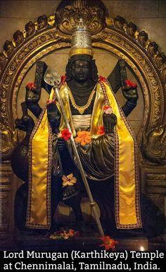 Lord Murugan (Karthikeya) Temple at Chennimalai, Tamilnadu, India. Lord Murugan Wallpapers, Shiva Lord Wallpapers, Kali Shiva, Shiva Shakti, Lord Shiva Hd Images, Lord Balaji, Ganesha Pictures, Shiva Statue, Goddess Lakshmi
