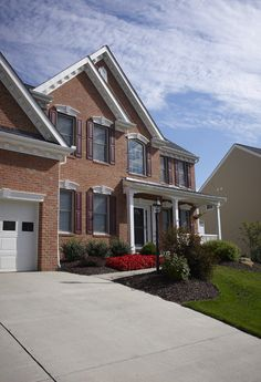 Exterior Elevation D of Providence model home