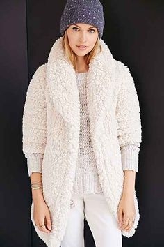 Pins And Needles Sherpa Furry Robe Coat
