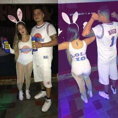 Diy Lola Bugs Bunny Costume Couple Halloween Costumes Bunny Bugs Bunny And Elmer Fudd Costume Bugs Bunny Costume Bunny Diy Bugs Bunny Lola Bunny Halloween Couple Costume Couple Bugs And Lola Bunny Costume Diy Couple… Moana Halloween Costume, Bunny Halloween Costume, Cute Couple Halloween Costumes, Halloween Outfits, Women Halloween, Girl Halloween, Halloween Party, Lola Bunny Halloween, Halloween Recipe