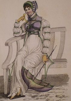 Deciphering Sleeve Styles of the Regency, via Historical Sewing (1811 July Promenade Dress in La Belle Assemblee)