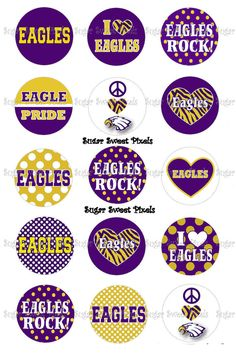 INSTANT DOWNLOAD Eagles purple gold School by sugarnspicebow
