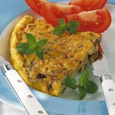 Ob kalt oder warm, diese Frittata mit Pilzen kommt immer gut an. Mit Pinienkernen wird sie noch italienischer.