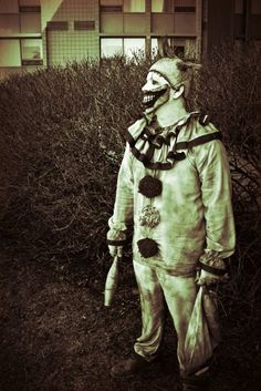 Twisty the clown by Rusty Sinner FX Ahs, I Am Scared, Horror Stories, Costumes, People, Dress Up Clothes, Fancy Dress, People Illustration, Men's Costumes