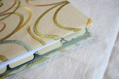 the creative place: diy tuesday :: fabric covered binder