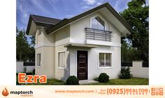 Properties in Davao and Beyond: Prestige Subdivision - Ezra Model House Two Story House Design, Small House Design, Beautiful Small Homes, Small House Floor Plans, Two Storey House, Minimalist House Design, Affordable Housing, Home Design Plans, Model Homes