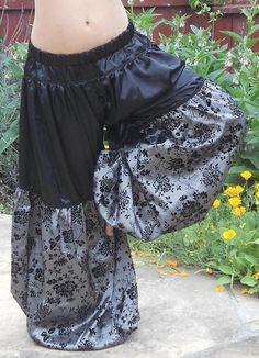 American Tribal Style Belly Dance Pantaloons by VespertineFab