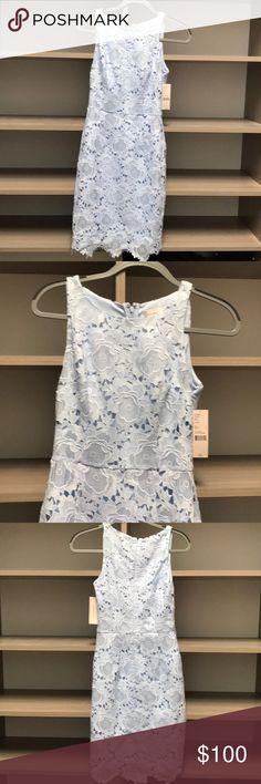 Lace design ice blue dress Classy ice blue lace design dress katherine kelly Dresses