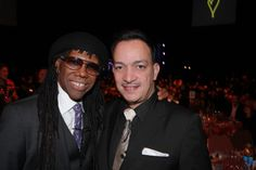 """Anthony Rubio with Nile Rodgers  Congratulations to legendary music producer Nile Rogers for winning several Grammy's along with Pharrell Williams and Daft Punk after blowing everyone away in that spectacular performance of """"Get Lucky"""" accompanied by the man himself Stevie Wonder. The 56th Grammy Awards was absolutely incredible tonight."""