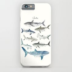 Sharks+iPhone+&+iPod+Case+by+Amy+Hamilton+-+$35.00