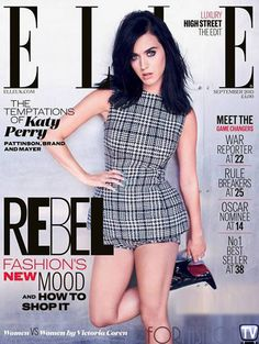 #KatyPerry & Her #Pretty In Plaid For Her First #ELLE UK Cover!