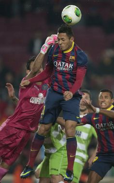 FC Barcelona | Adriano salta junto a Codina | FC Barcelona 4-0 Getafe.| [08.01.14]