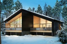 Honka Joiku is an ecological and stylish duplex house for holiday living. Lake Pictures, Duplex House, Cabin Kits, Cabin Design, River House, Cabins In The Woods, Log Homes, Custom Homes, Homesteading