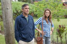 A close bond: Woodley opened up about her close relationship with the famous actor George Clooney; here they are pictured from a scene of the 2011 film The Descendants Shailene Woodley, George Clooney, Amal Clooney, The Descendants 2011, Movies To Watch Online, Trends, Best Actor, Flannel Shirt, American