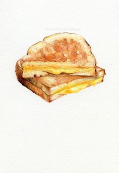 Kendyll Hillegas |Grilled cheese, 2013 (drawing of grilled cheese sandwich)