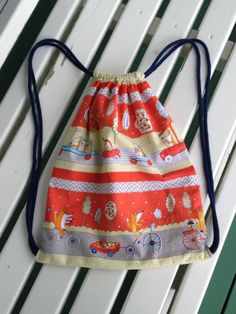 CUSTOM ORDER for Clare  Fox Playground Drawstring by LahDiDoo