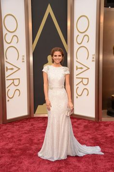 We took 4 of our Favorite Red Carpet Gowns from The Oscars and translated them into a dream wedding inspiration! See the gowns and their dreamy wedding inspiration boards here: http://www.stylemepretty.com/little-black-book-blog/2014/03/03/the-oscars-wedding-inspiration/