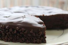 Flourless Chocolate Cake :: bittersweet chocolate, butter, unsweetened cocoa powder, vanilla, sugar, eggs, cream of tartar, semi-sweet chocolate, and light corn syrup.