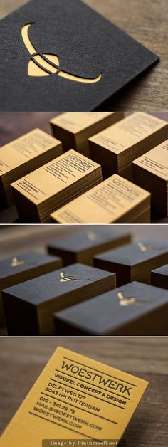 Woestwerk Business Card by Woestwerk :: laser-cut and letterpress