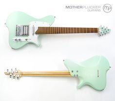 Mother Plucker Guitars Annabelle - Surf green satin finish, Bocote fingerboard, 28 frets, 25.5 scale length