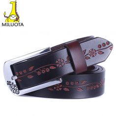 Barato 2014 Cintos Femininos moda 100% couro genuíno das mulheres Cintos de Metal Pin fivela Cintos de couro para mulheres DE041, Compro Qualidade Cintos e Faixas diretamente de fornecedores da China: