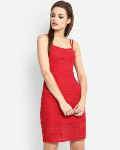 9aef3ec0417 Buy Red Stefanie Lace Bodycon Dress Online at StalkBuyLove