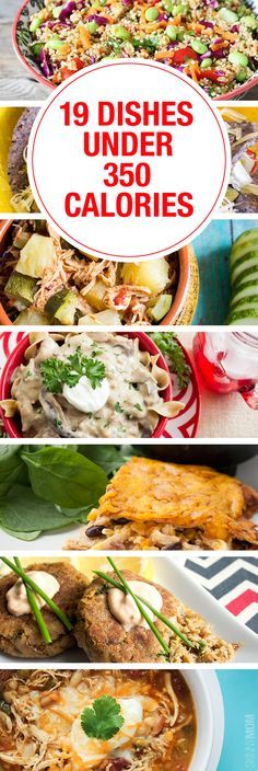 Great meal ideas for UNDER 350 Calories!!!
