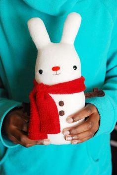 project // super soft snow bunny plush